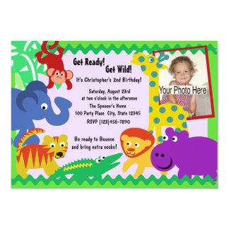 J is for Jungle 13 Cm X 18 Cm Invitation Card