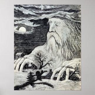 """""""Jack Frost"""" Vintage Illustration Poster"""