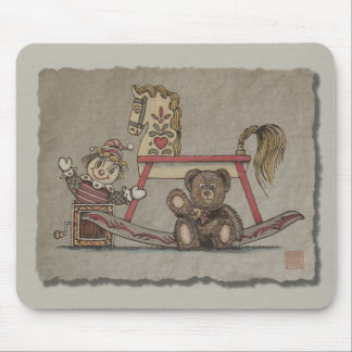 Jack in the Box, Horse & Bear Mouse Pad