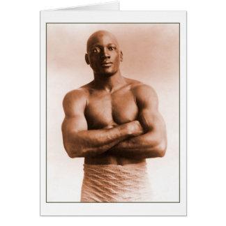 Jack Johnson American Boxer Note Card