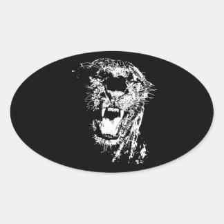 Jaguar Roaring Oval Sticker