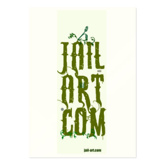 jail-art.com number one sign pack of chubby business cards