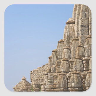 Jain temple in Chittorgarh Fort, India Square Sticker