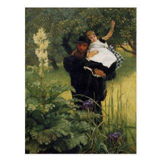 James Tissot Daughter Vintage Father's Day Postcard
