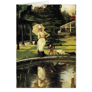 James Tissot- In an English Garden Greeting Card