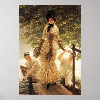 James Tissot On The Thames Poster