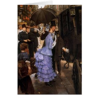 James Tissot- The Traveller Greeting Card