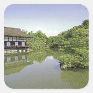 Japan, Kyoto, Japanese Garden of Heian Shrine 2 Square Sticker