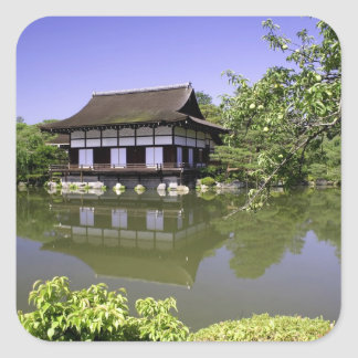 Japan, Kyoto, Japanese Garden of Heian Shrine Square Sticker