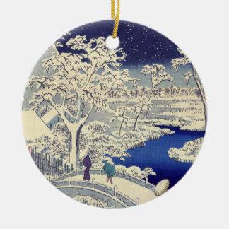 Japanese Christmas decoration Round Ceramic Decoration