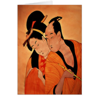 Japanese Couple blank notelets / cards