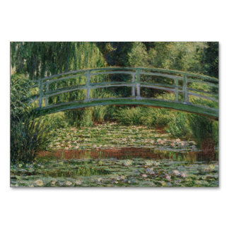 Japanese Footbridge and Water Lily Pool by Monet Table Card