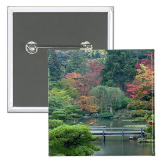 Japanese Garden at the Washington Park 15 Cm Square Badge