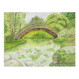 """Japanese Garden postcard"