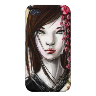 Japanese Geisha 7 Asian Kimono Anime Cover For iPhone 4