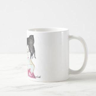 Japanese geisha animation drawing t-shirt gift basic white mug