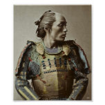 Japanese Samurai Vintage Photo Hand coloured Poster