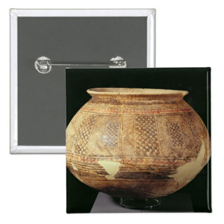 Jar with geometric decoration in the Halaf style, 15 Cm Square Badge