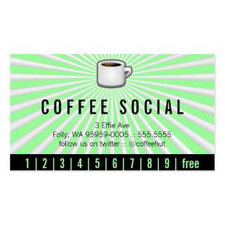 Java Logo Drink Burst Loyalty Pack Of Standard Business Cards