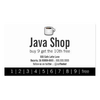 Java Shop Drink Punch Card Pack Of Standard Business Cards