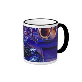 """Jazz In Blues"" Musical Instruments Watercolor Ringer Mug"