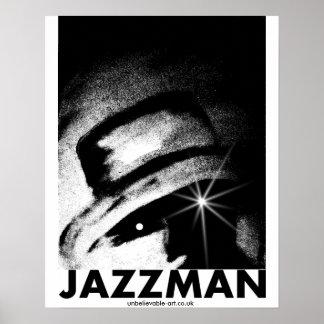 Jazzman, Jazz, Musicman, Musician Poster