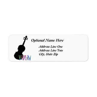 Jazzy Violin Return Address Label