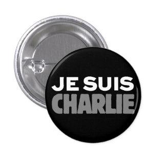Je Suis Charlie - I am Charlie Black 3 Cm Round Badge