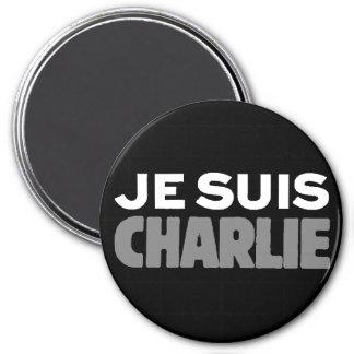 Je Suis Charlie - I am Charlie Black 7.5 Cm Round Magnet