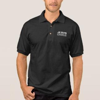 Je Suis Charlie - I am Charlie Black Polo Shirts