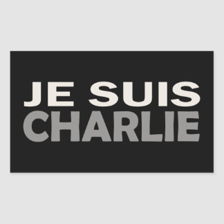 Je Suis Charlie Rectangular Sticker