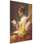 Jean-Honore Fragonard Young Girl Reading Fine Art Gallery Wrap Canvas