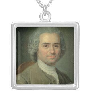 Jean-Jacques Rousseau Square Pendant Necklace