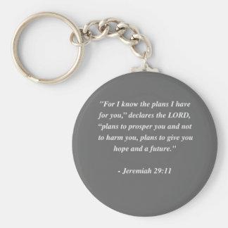 JEREMIAH 29:11 Bible Verse Basic Round Button Key Ring