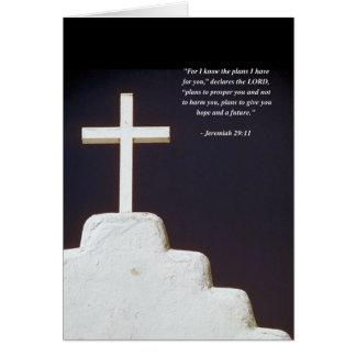 JEREMIAH 29:11 Bible Verse Greeting Card