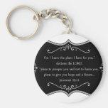 Jeremiah 29:11 Custom Christian Gift Basic Round Button Key Ring