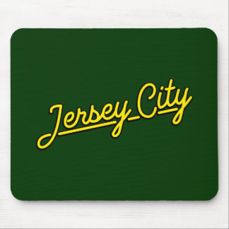 Jersey City in yellow Mouse Pad