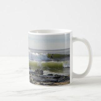 Jersey Ocean Waves Basic White Mug