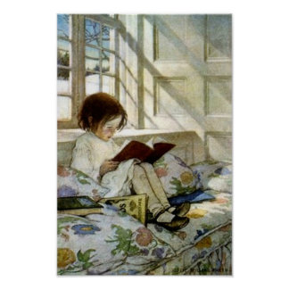 "Jesse Willcox Smith's ""Books in Winter"" Poster"
