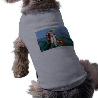 Jesus Christ Walks on Water Sleeveless Dog Shirt