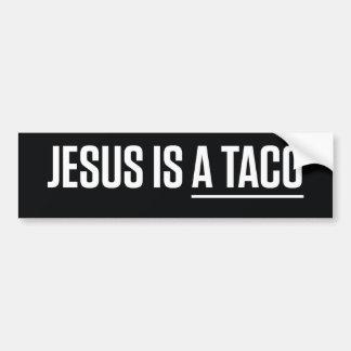 Jesus Is a Taco Bumper Sticker