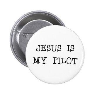 Jesus Is My Pilot 6 Cm Round Badge