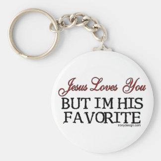 Jesus Loves You Favorite Basic Round Button Key Ring
