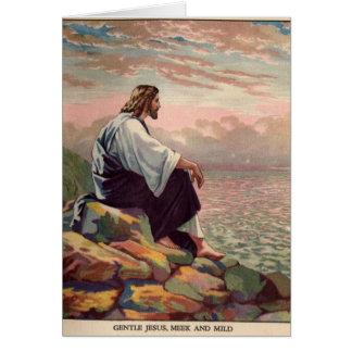 Jesus Meek and Mild Greeting Card