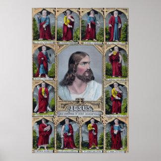 Jesus & The 12 Apostles Poster