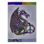 Jewelled Peace Dragon Greeting Card