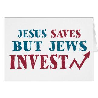 Jews Invest - Jewish finance humor Greeting Card