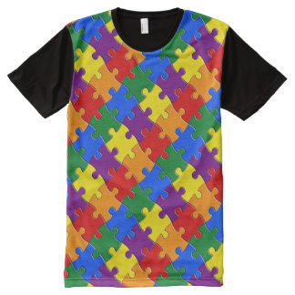 Jigsaw Pride All-Over Print T-Shirt
