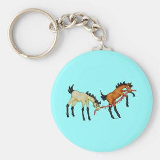 Jingle Bell Rockers Basic Round Button Key Ring
