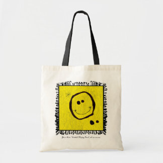 joan miro happy face bag